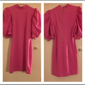 Forever 21 pink 80s style dress